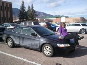Erica and car