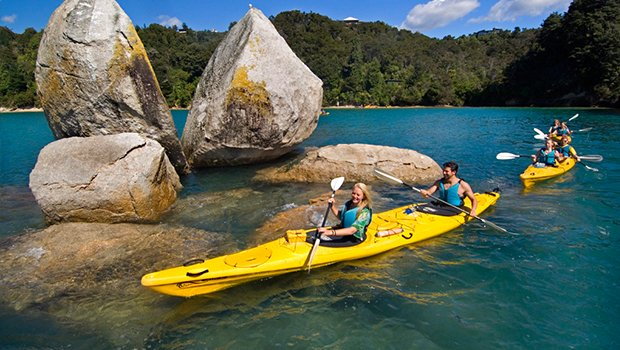 Split Apple Rock in the Abel Tasman National Park, Nelson. Photo from www.newzealand.com.