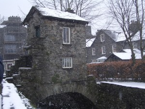 A quirky stone building in Ambleside, The Lakes