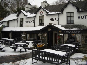Just one of the many traditional English pubs in The Lake District, this one is in the tiny village of Troutbeck, near Windermere.