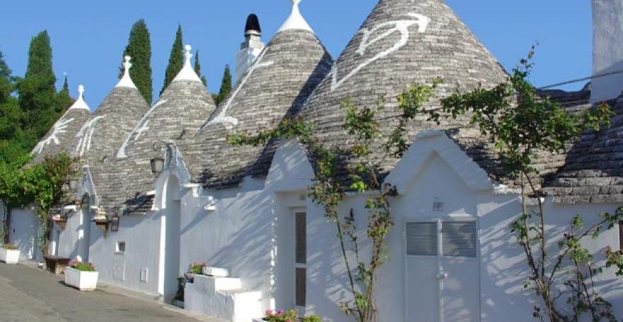 UNESCO Heritage Site of Alberobello Smurf Houses