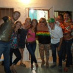 During Carnaval, we got down at my friend's Mom's house. His mom  (second from the right) brought the party!