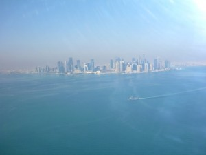 This picture is while I was inbound for landing at Doha International Airport on a recent trip