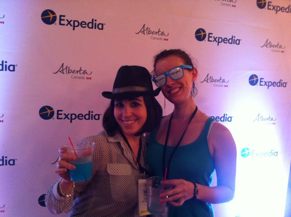 "Beth and Nathalie at the Expedia ""Night with the Stars"" party on Centre Island in Toronto."