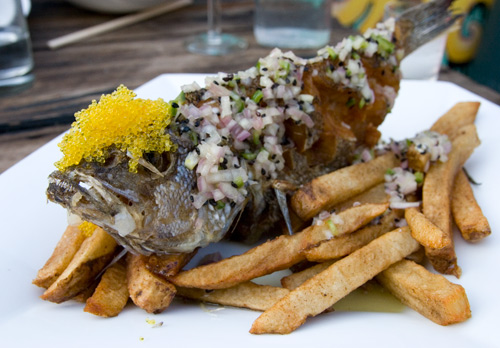 A Fish And Some Chips at Bedford Stuyvesant's new restaurant Do or Dine.  Photo via seriouseats.com