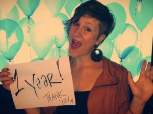 Rachel Halder celebrating the 1-year anniversary of her blog, Our Stories Untold