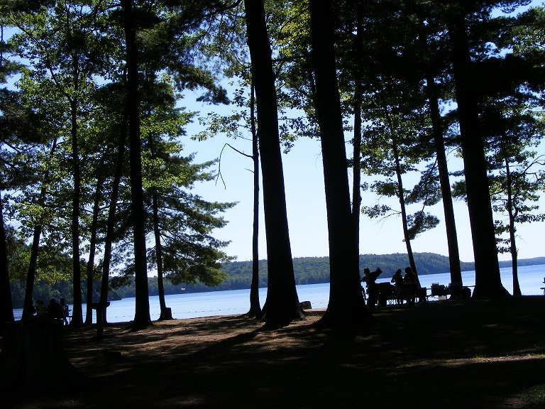 Lakeside campground at Bon Echo Provincial Park, Ontario