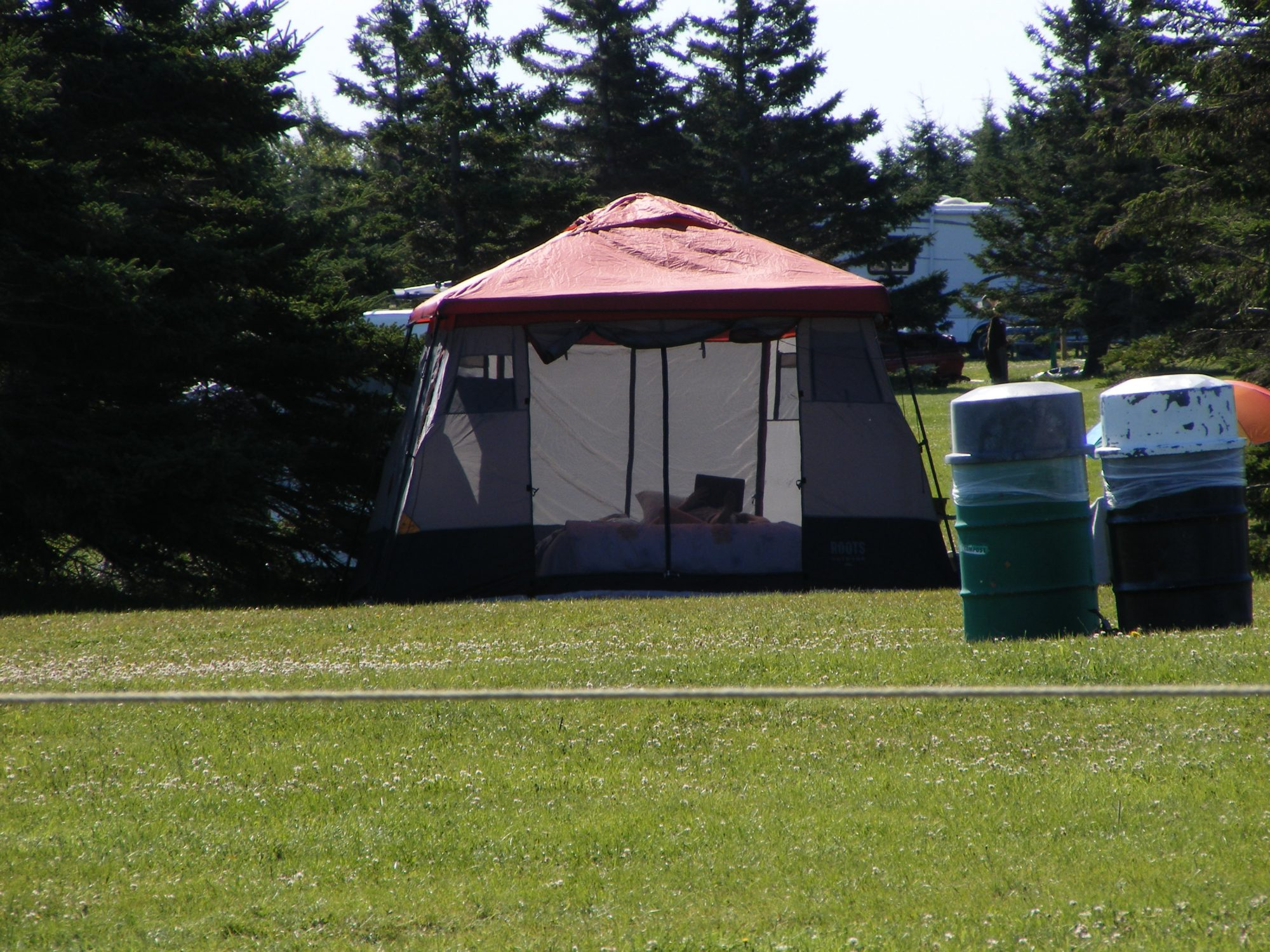 The tent is set up in Prince Edward Island