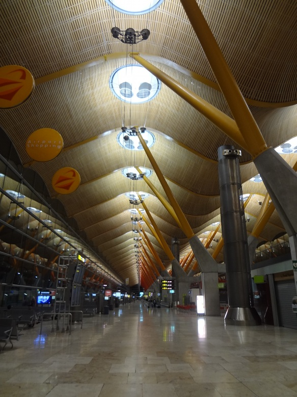 The beautiful Madrid airport, which I passed through en route from Lisbon to Riga. Americans, do you ever feel particularly privileged as a traveler in comparison to your non-American friends?