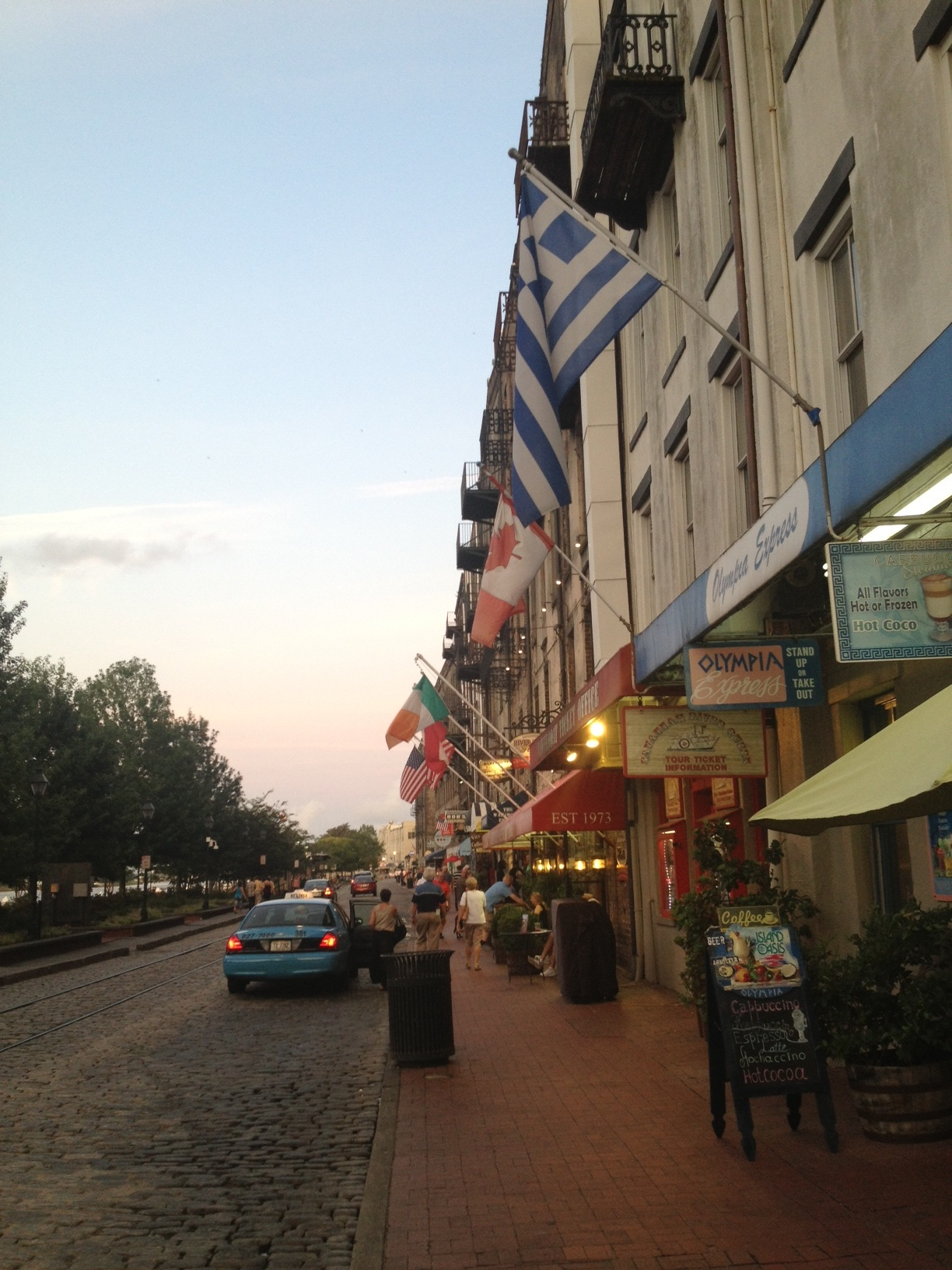 The Savannah, GA riverfront is a charming place to eat, drink, and be merry.