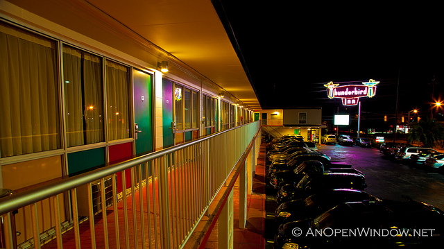 While driving from Florida to Massachusetts (for the second time!), Samantha stayed at the retro Thunderbird Inn. Image by Flickr user AnOpenWindow.net.