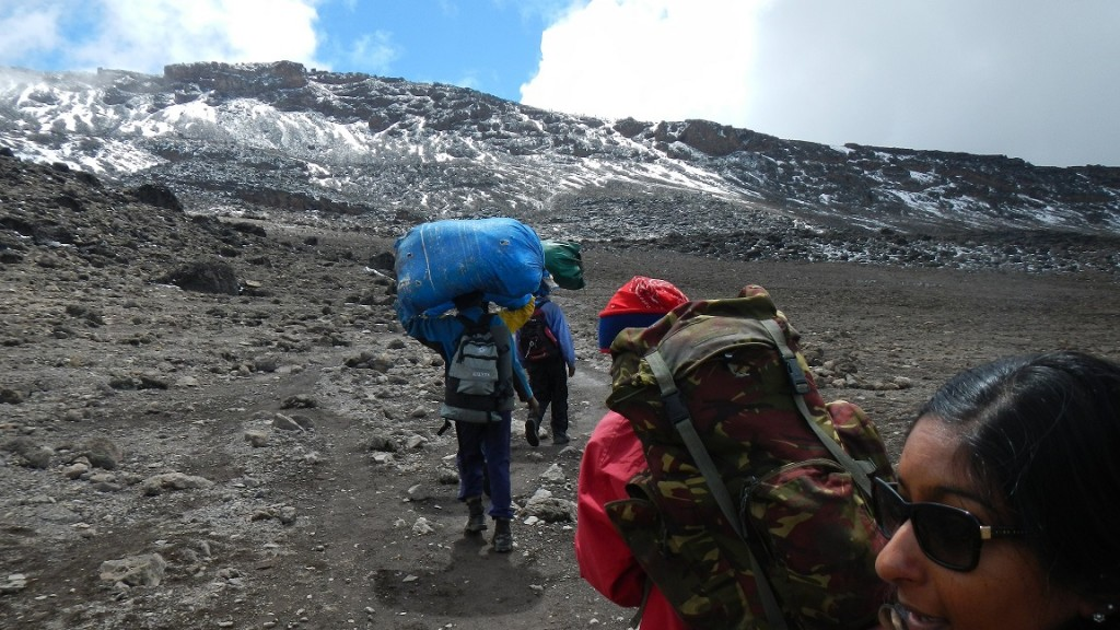 Some of the porters and their loads.