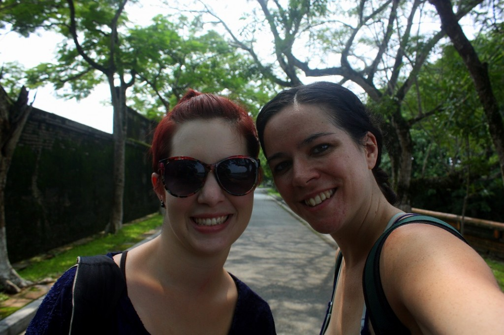 Childhood friend and traveling companion Sarah and I in Hue, Vietnam