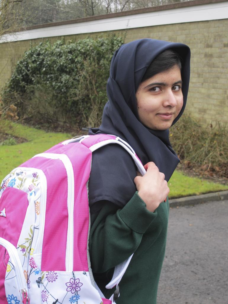 Teenage activist Malala Yousafzai, victim of the Taliban, speaks out. Image from ibtimes.com via Reuters.