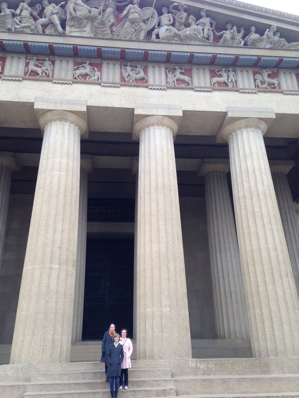 Cousins and me on the steps of the Parthenon (Nashville, TN). Photo by Steve Ladavich.
