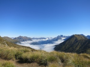 The clouds below the Kepler Track.