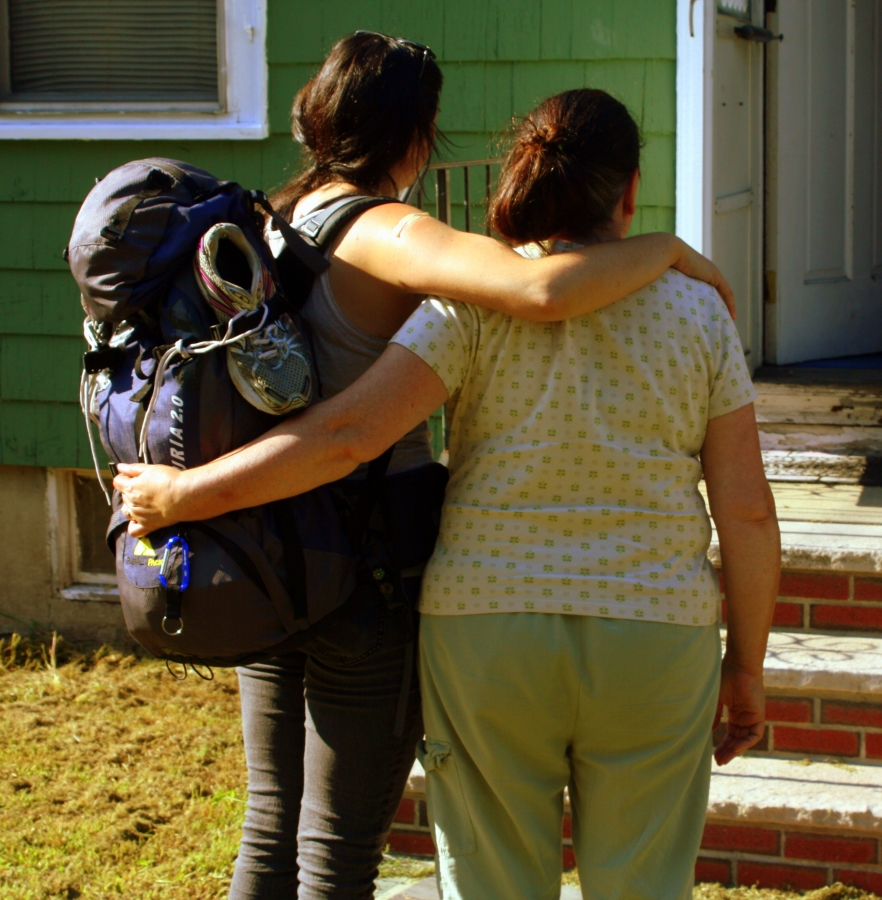 My mom and I right before I took off for my three-month trip to Southeast Asia. Image courtesy of Kayti Burt.