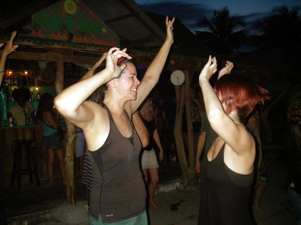 Attending the tail-end of an all-night dance party on Koh Phangan