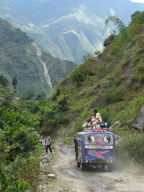 A bus in Nepal. Photo credit: flickr user poida.smith
