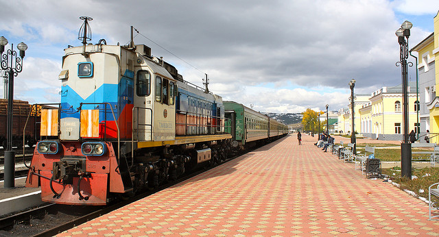 The Trans-Siberian railway. Photo credit: flickr user Kyle Taylor