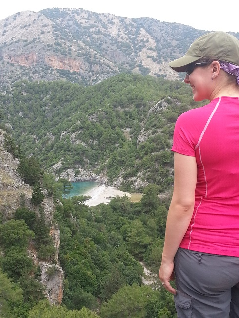 Erica on the Mediterranean Delights Fitness Voyage with Go Girl Travel Network