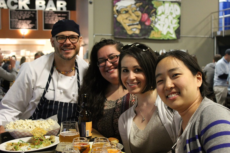 The Go Girl team hangs with chef Christian DeLutis at Troeg's Brewery