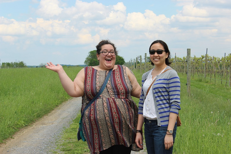 Ariel and Sam of Go Girl Travel Network at Cassel Vineyards