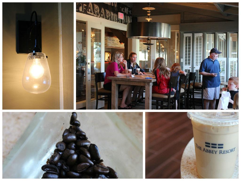 Cafe Latte in the Abbey Resort in Fontana, Wisconsin