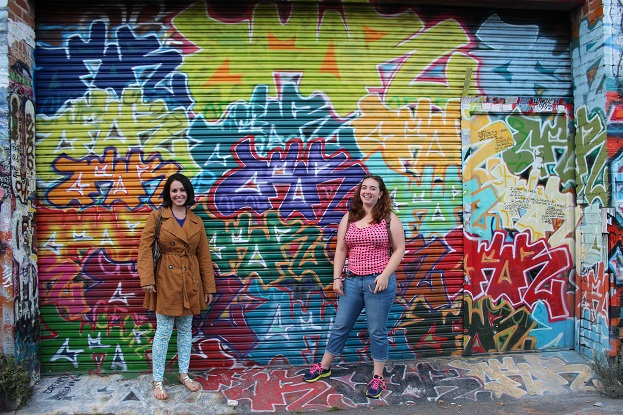 Beth and Melinda of Wanderful in San Francisco's Clarion Alley