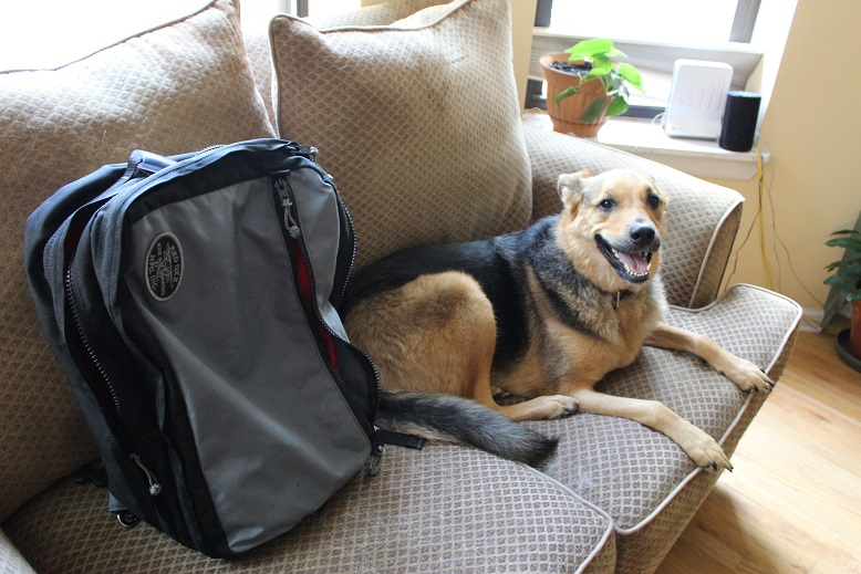 Red Oxx Sky Train convertible backpack/ carry-on bag, reviewed by Go Girl Travel Network