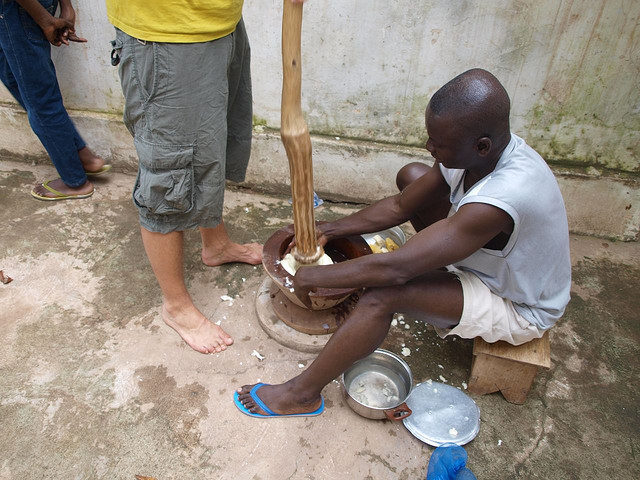 pounding fufu, Flickr, recipe, village