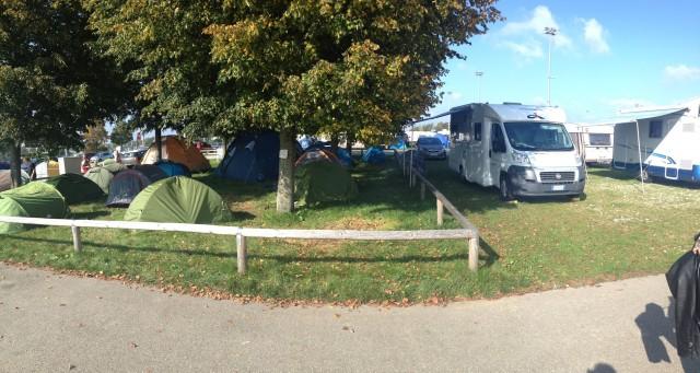 Consider camping: Oktoberfest tip.