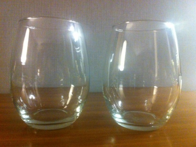 Wine glasses for guests at Le Méridien Chicago – Oakbrook Center