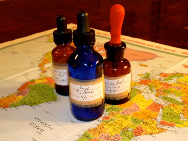 how to make a winter travel tincture