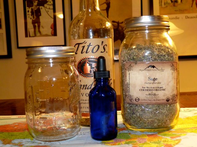 ingredients to make a tincture