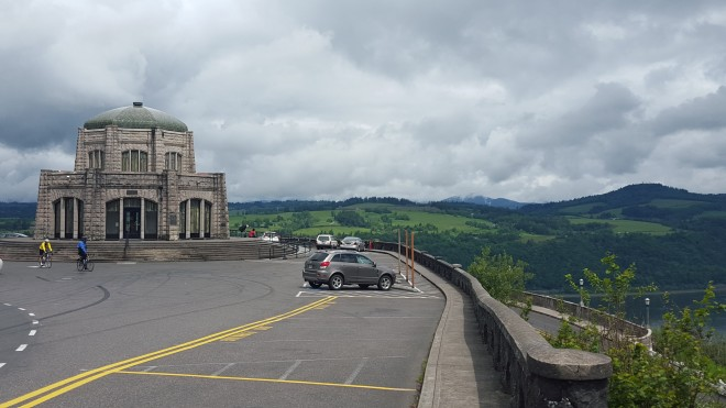 The Vista House on the Columbia River in Oregon. Photo by Beth Santos of Wanderful.