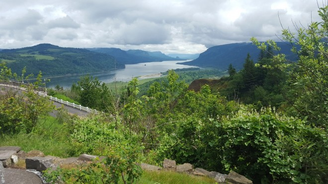 View from the Vista House on the Columbia River in Oregon. Photo by Beth Santos of Wanderful.