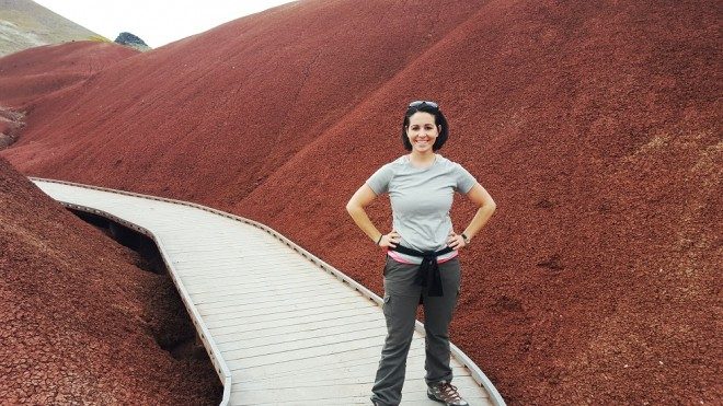 Beth Santos of Wanderful in the Painted Hills, Oregon