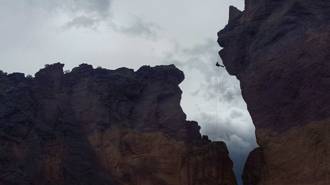 Climber at Smith Rock, Oregon. Photo by Beth Santos of Wanderful