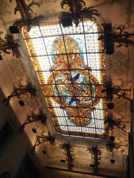 Sants town hall ceiling
