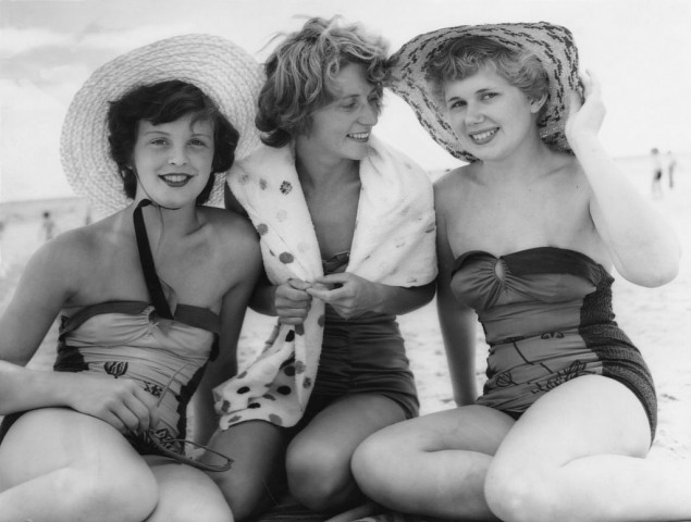 Just because it's vintage, doesn't mean it's acceptable - swimsuits aren't acceptable on a beach no matter how old they are in some countries!