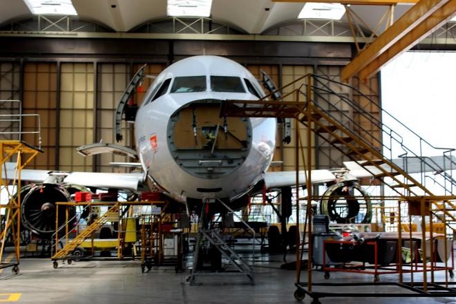 Inside Turkish Airlines hangar