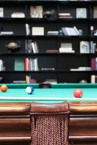 Billiards at Turkish Airlines Lounge in Istanbul