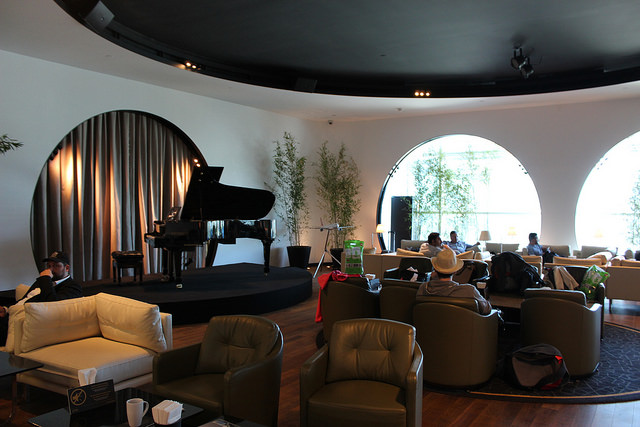 Concert hall at Turkish Airlines Lounge in Istanbul
