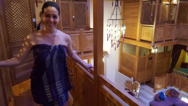 Getting ready for my bath, Turkish style
