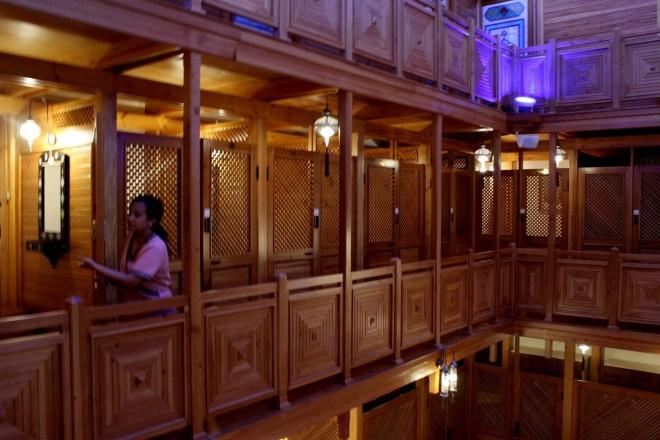 Changing rooms at the Ayasofya Hurrem Sultan Hamam