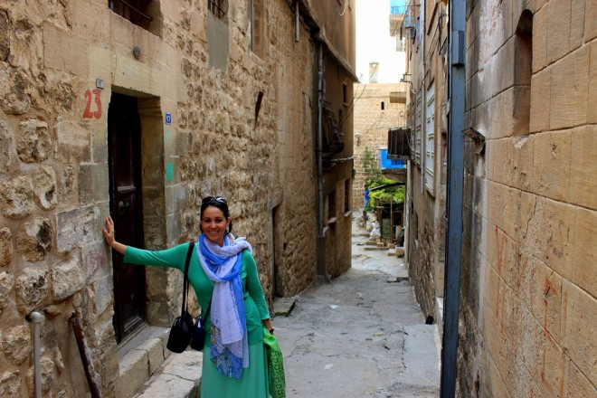 Beth walks through Mardin, Turkey