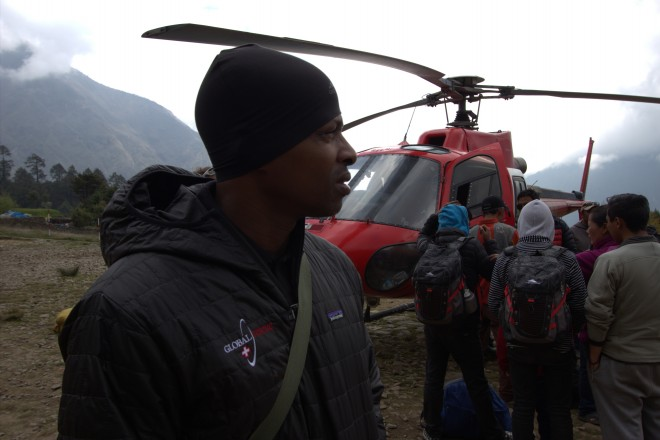 Global Rescue efforts after Nepal earthquake