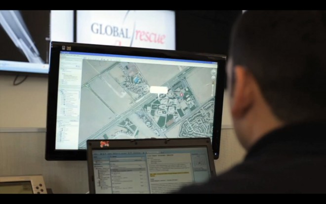Operations center at Global Rescue
