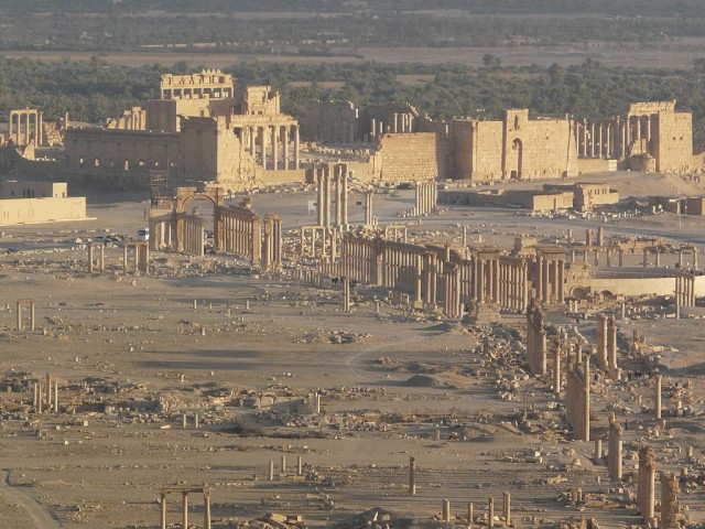 The ancient site of palmyra before the destruction.